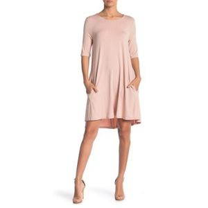 NWT Philosophy Elbow Sleeve Knit Swing Dress
